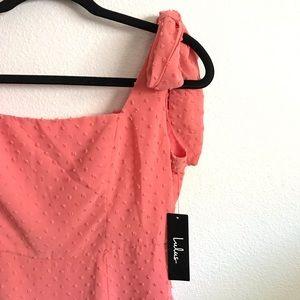 modern LULUS pink textured dress✨